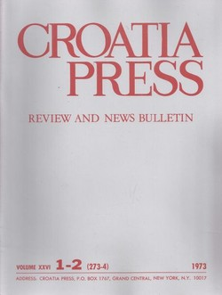 Croatia Press XXVI/1-2 (273-4)/1973