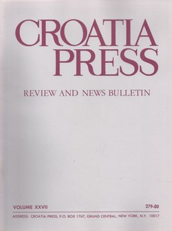 Croatia Press XXVII/3-4 (279-80)/1974