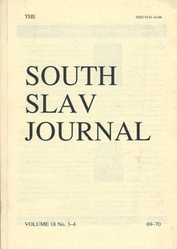 The South Slav Journal 18/3-4 (69-70)/1997