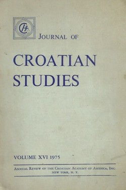 Journal of Croatian Studies XVI/1975