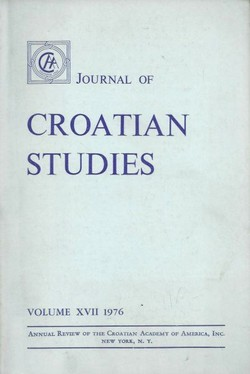 Journal of Croatian Studies XVII/1976