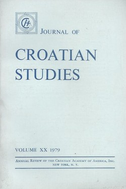 Journal of Croatian Studies XX/1979
