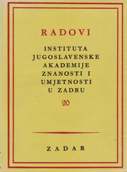 Radovi Instituta JAZU Zadru 20/1973