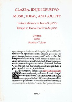 Glazba, ideje i društvo / Music, Ideas, and Society