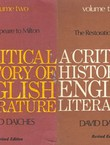 A Critical History of English Literature (2nd Ed.) I-IV